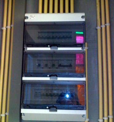 Meterkast-installatie